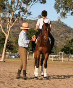 girl horse coaching